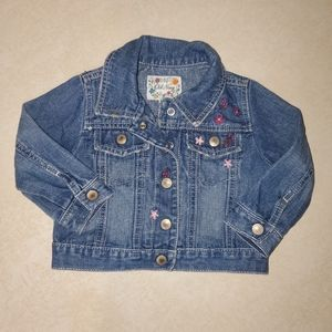 OLD NAVY Embroidered Jean Jacket